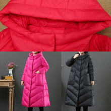 Load image into Gallery viewer, top quality rose warm winter coat Loose fitting winter snow jackets hooded Warm Jackets