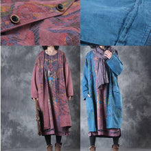 Load image into Gallery viewer, top quality blue prints maxi coats casual v neck Winter coat New  jackets coat