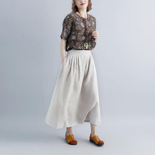 Load image into Gallery viewer, top quality linen maxi dress oversized Women Beige Casual Summer Pockets Long Skirts