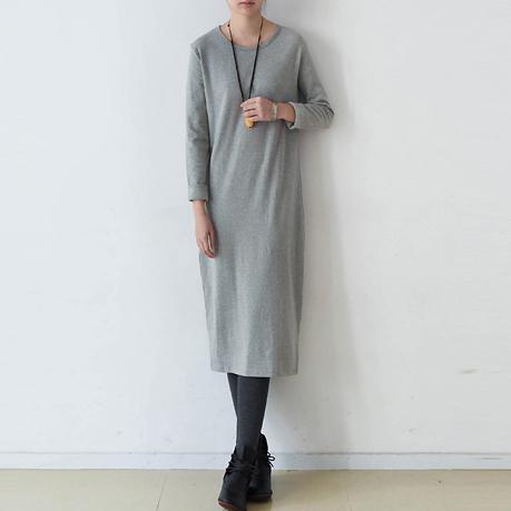 vintage gray sweater dress fall fashion o neck spring dresses slim pullover sweater