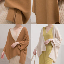 Load image into Gallery viewer, vintage nude cozy sweater fall fashion Three Quarter sleeve sweaters New cardigan blouse