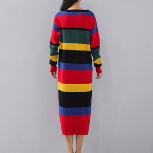 vintage striped plus size V neck gown boutique long sleeve slim caftans
