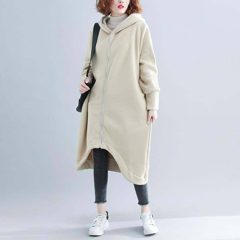 vintage wool coat plus size maxi nude hooded outwear