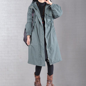 women green coat plus size snow jackets drawstring hooded winter coats
