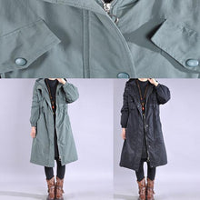 Load image into Gallery viewer, women green coat plus size snow jackets drawstring hooded winter coats