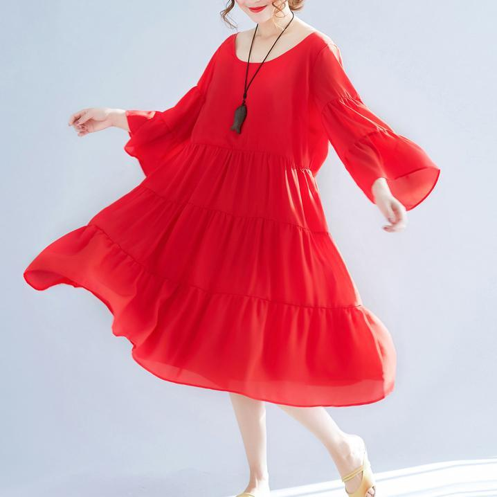 women red chiffon caftans plus size patchwork chiffon gown boutique big hem maxi dresses