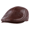 Casquette Plate Cuir Homme