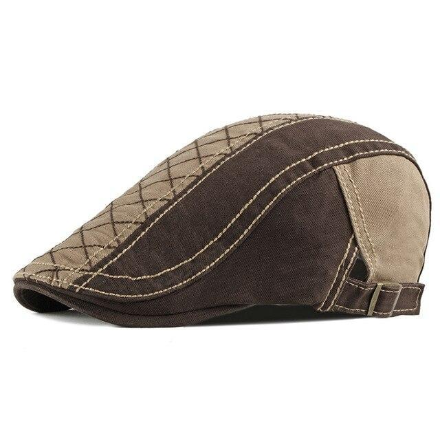 Casquette Plate Homme Patchwork