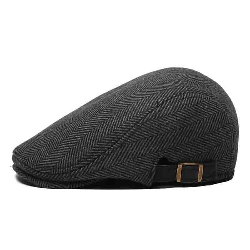 Casquette Plate Gris Tweed