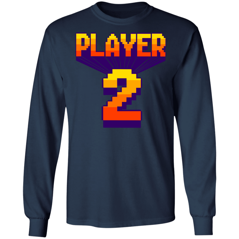 Player 2 Video Game Arcade Long Sleeve T-Shirt