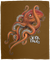 Octopus Saltwater Plush Fleece Blanket - 50x60