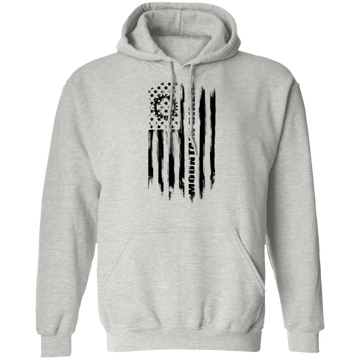 Mountain Biker Biking Cyclist American Flag Pullover Hoodie