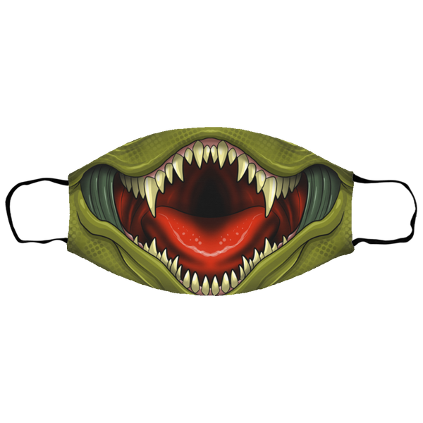 Small Scary Lizard Mouth Face Mask