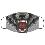 Wolf Snarling Teeth Face Mask