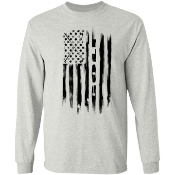 Golf Golfing American Flag Long Sleeve T-Shirt