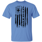 Medic Ambulance Nurse Hospital American Flag T-Shirt