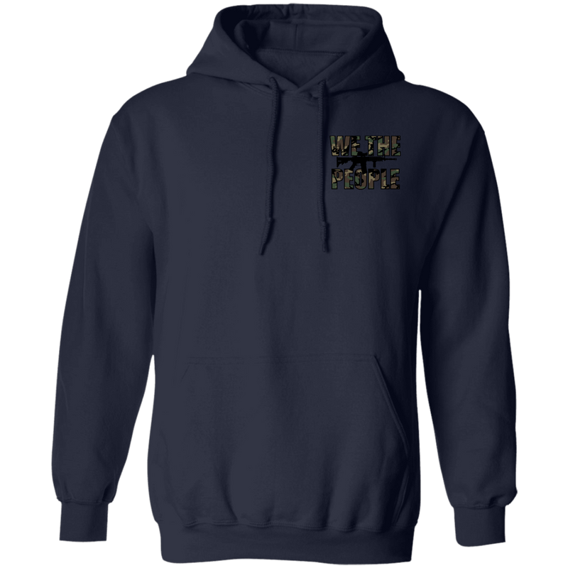 We the People Don't Tread on Me Gadsden Flag Double Sided Pullover Hoodie