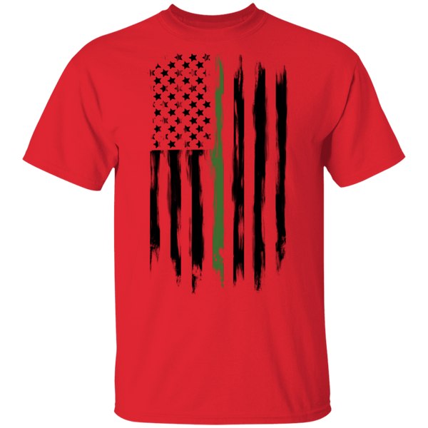 Border Patrol Park Rangers Conservation Thin Green Line American Flag T-Shirt