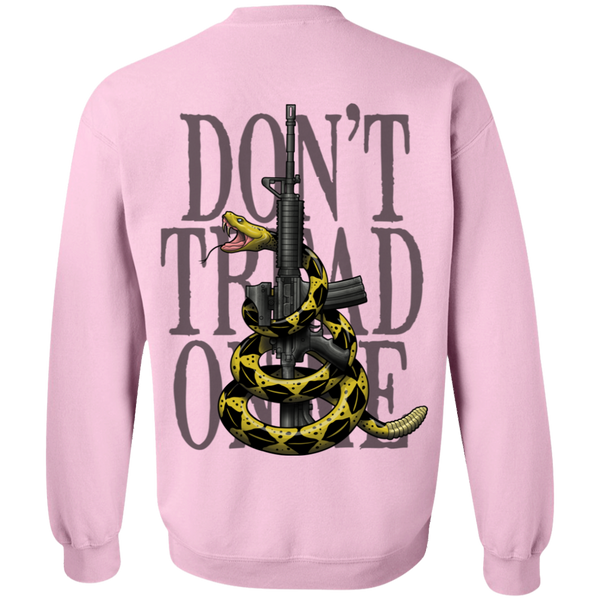 Patriot Don't Tread on Me Gadsden Flag Double Sided Crewneck Sweatshirt