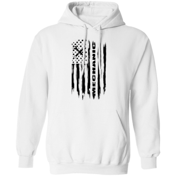 Mechanic Automotive Repair Enthusiast American Flag Pullover Hoodie