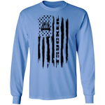 Trucker Semi Truck Driver American Flag Long Sleeve T-Shirt