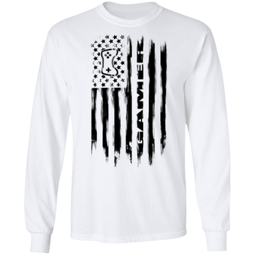 Gamer Video Games Streamer American Flag Long Sleeve T-Shirt