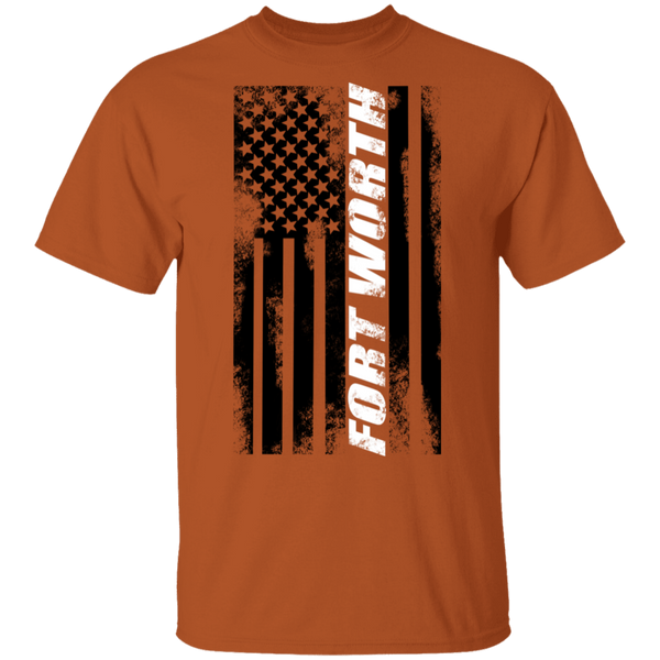Fort Worth Texas American Flag T-Shirt