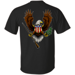 We the People American Bald Eagle 1776 Double Sided T-Shirt