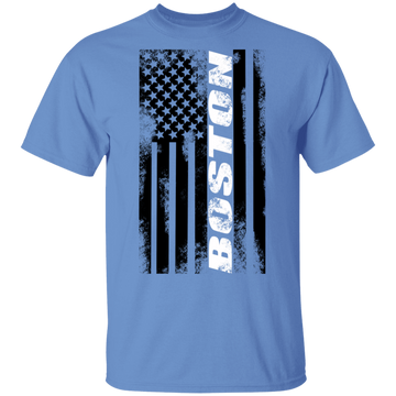 Boston Massachusetts American Flag T-Shirt