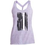 Baltimore Maryland American Flag Women's Cosmic Twist Back Tank