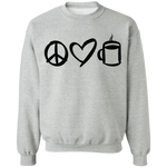 Peace Love Coffee Crewneck Sweatshirt