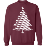 Rifle Firearm Christmas Tree Ugly Christmas Crewneck Sweatshirt