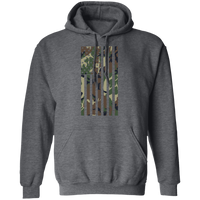 Camo American Flag Pullover Hoodie