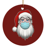 Masked Santa Claus Quarantine Ugly Christmas Ceramic Ornament