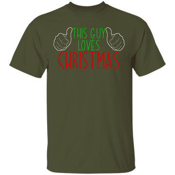 This Guy Loves Christmas Ugly Christmas T-Shirt