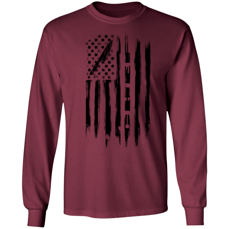 Chef Cook Culinary American Flag Long Sleeve T-Shirt