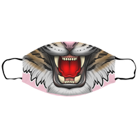 Tiger Growling Big Cat Sm/Med Face Mask