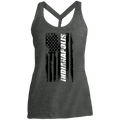 Indianapolis Indiana American Flag Women's Cosmic Twist Back Tank