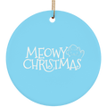 Meowy Christmas Kitty Cat Christmas Ceramic Ornament