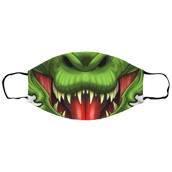 Small Dragon Fire Breather Evil Face Mask