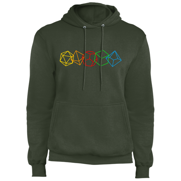 Role Play Dice Nerdy Fleece Pullover Hoodie