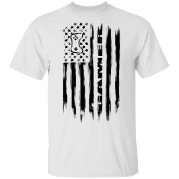 Gamer Video Games Streamer American Flag T-Shirt
