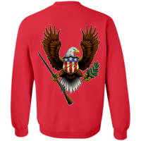 Lady Patriot 1776 American Bald Eagle Double Sided Crewneck Sweatshirt