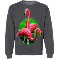 Flamingos Hanging Out Crewneck Pullover Sweatshirt