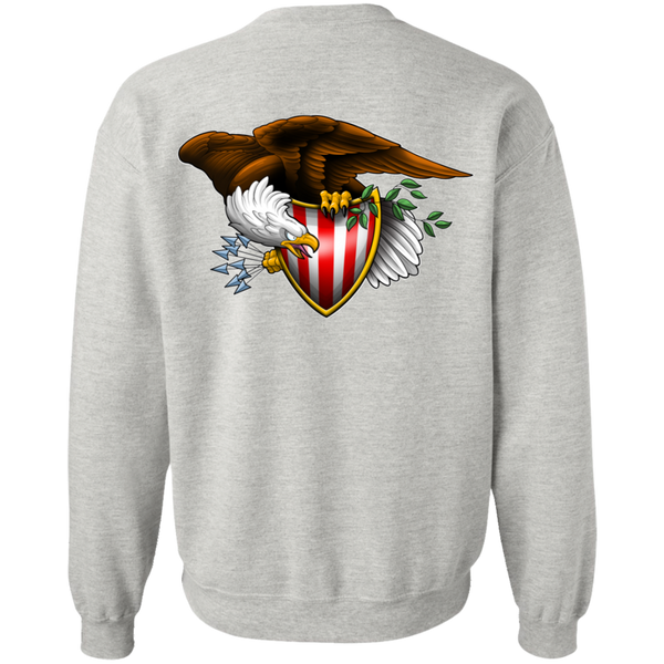 Patriot American Bald Eagle Double Sided Crewneck Sweatshirt