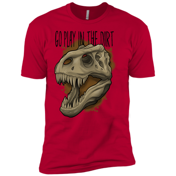 Boys' Go Play in the Dirt T-Rex Funny T-Shirt