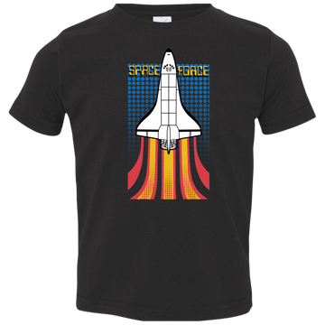 Toddler Space Force Retro 80s Jersey T-Shirt