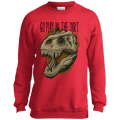 Boys' Go Play in the Dirt T-Rex Funny Crewneck Sweatshirt