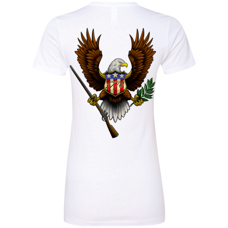 1776 American Bald Eagle Women's Double Sided Boyfriend T-Shirt