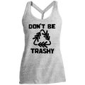 Don't Be Trashy Recycle Conservation Women's Cosmic Twist Back Tank